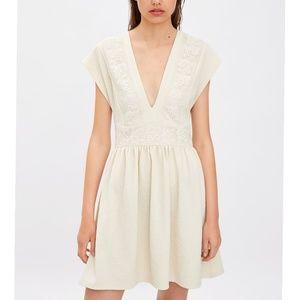 Zara Contrast Lace Knit Dress